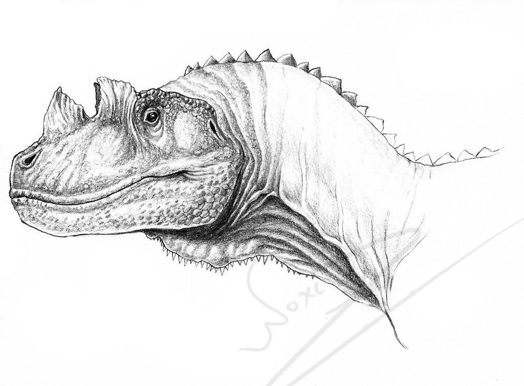 Ceratosaurus - a portrait by ArtOfNoxis