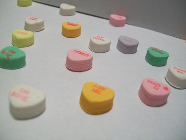 Candy Hearts I by DominosAreFalling