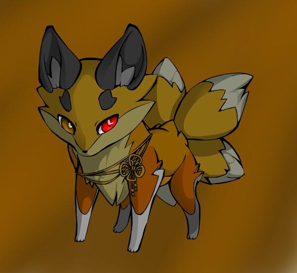 Earth fox adopt (elemental fox adopt) *closed* by Fishtailholly