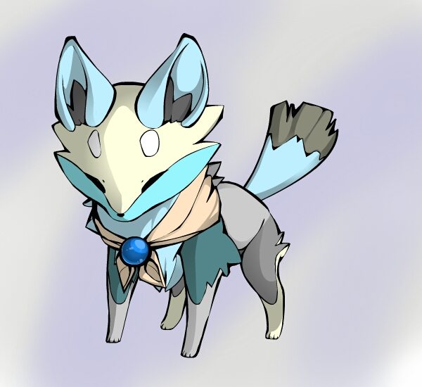 Wind fox adopt (elemental adopt) *closed* by Fishtailholly