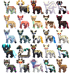 MINI ICONS {{Commisions open!}} Batch 2 by Fishtailholly