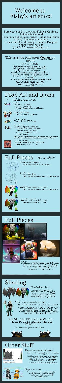 NEW COMMISSION PRICES by Fishtailholly