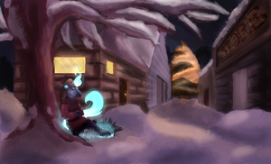 SS: Warm Snowy Evening by Astr0fish