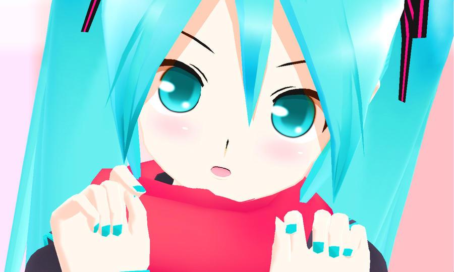 MMD Cute lat Miku by Aisuchuu