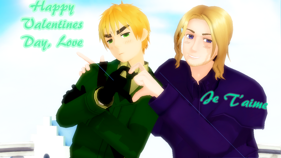 APH Valentines Day Special England and France by Aisuchuu