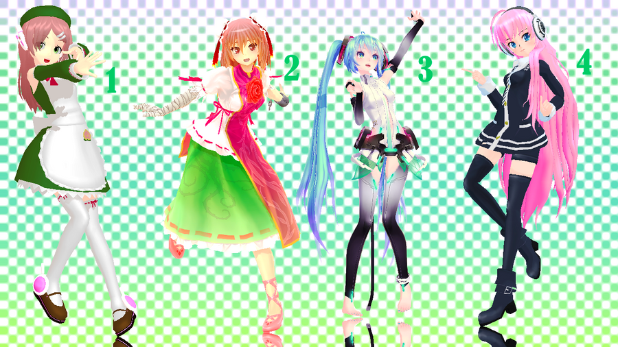 MMD Poses DL favourites by KrizzMay on DeviantArt
