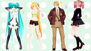MMD Pose Pack 25 by Aisuchuu