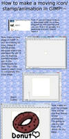 How to make moving icons GIMP