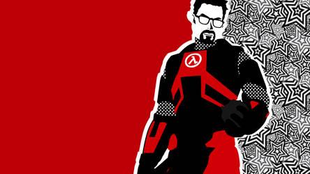 Half-Life x Persona 5: Gordon Freeman Vector Art