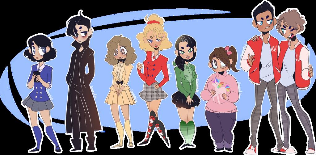 Heathers - Cast by Elemental-FA