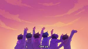 Screenshot redraw - osomatsu san by Elemental-FA