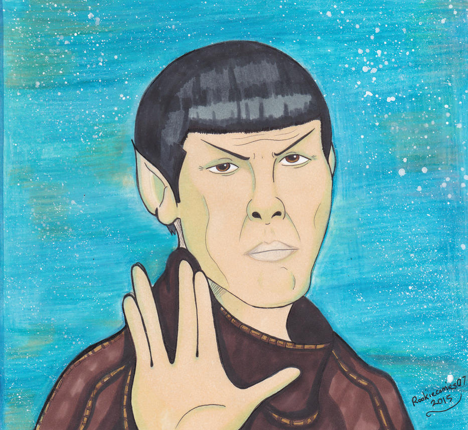 In loving memory of  leonard Nimoy by rookiecomics07