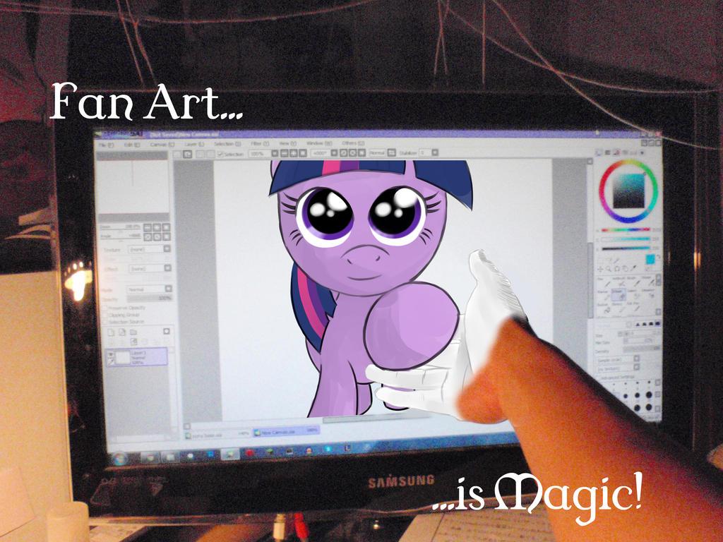 my little pony fan art is magic by faulty roze on deviantart