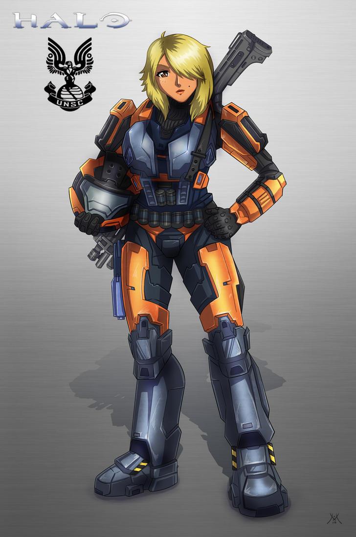 Halo Girl Mebius Armor by mizukoiuchi
