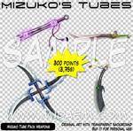 Mizuko Tube Pack Weapons