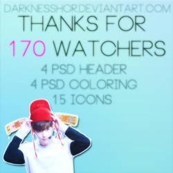 Thanks For 170 Watchers by darknesshcr