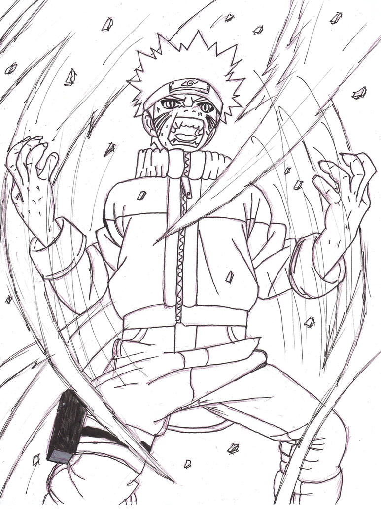 naruto coloring pages nine tailed fox - how to draw naruto 9 tail fox