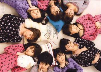 Morning Musume Sleeping by kiloeminem