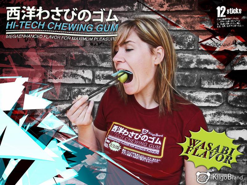 Hi-tech Wasabi Gum by Heidi