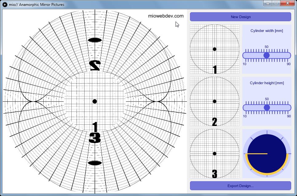 Creative Coding: Anamorphic Mirror Pictures by miowebdev