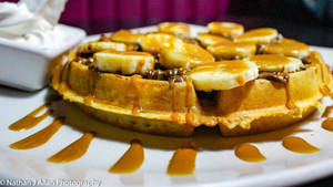 Kaspa's Banoffee and Nutella Waffles