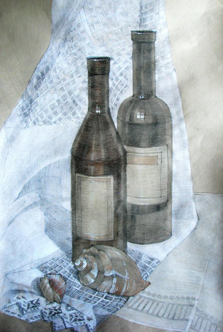 bottles and shells author Anna Marinicheva by vasoiko