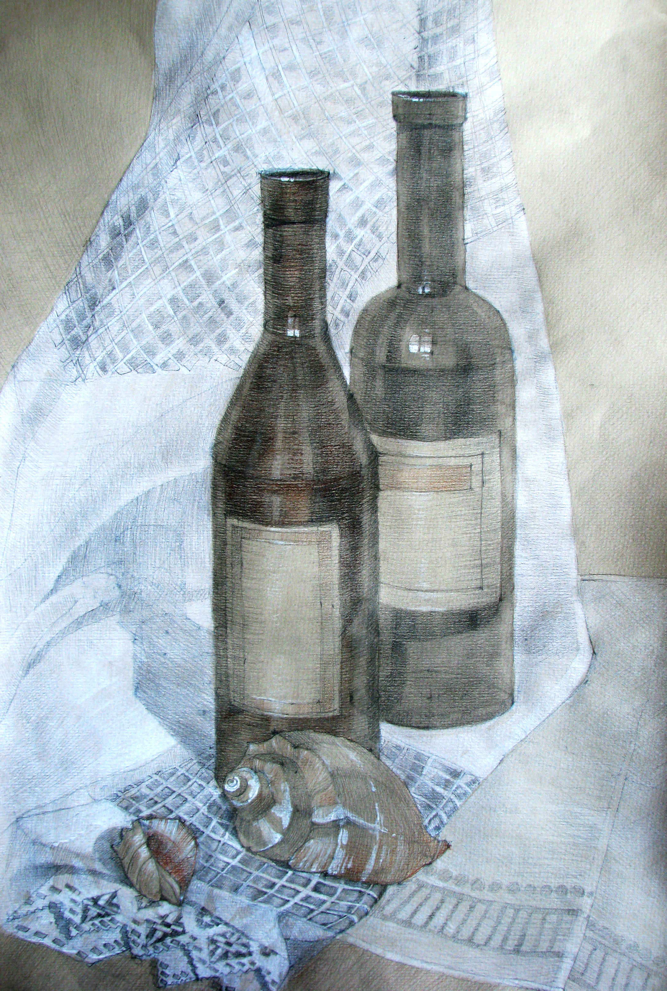 bottles and shells author Anna Marinicheva by vasoiko