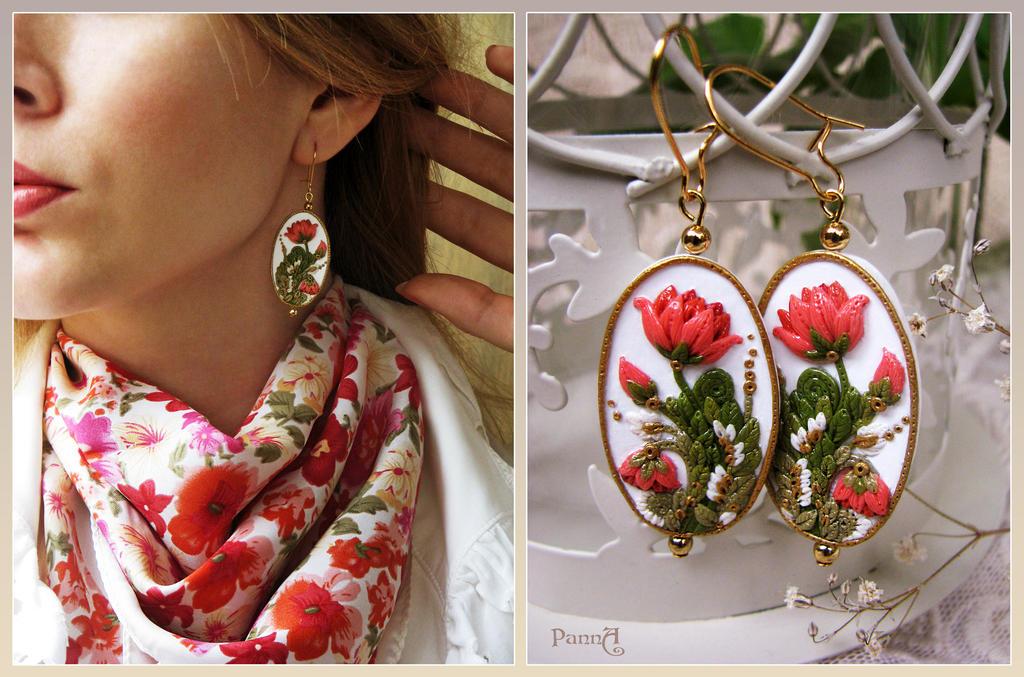 Earrings Herbarium by vasoiko