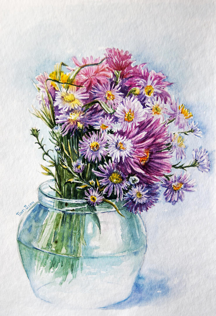 bouquet of daisies by vasoiko