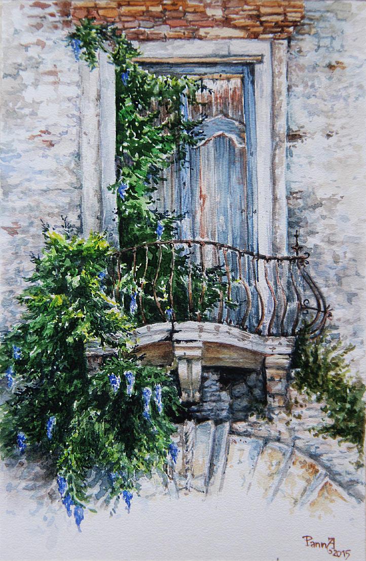 Old balcony in Toscana by vasoiko