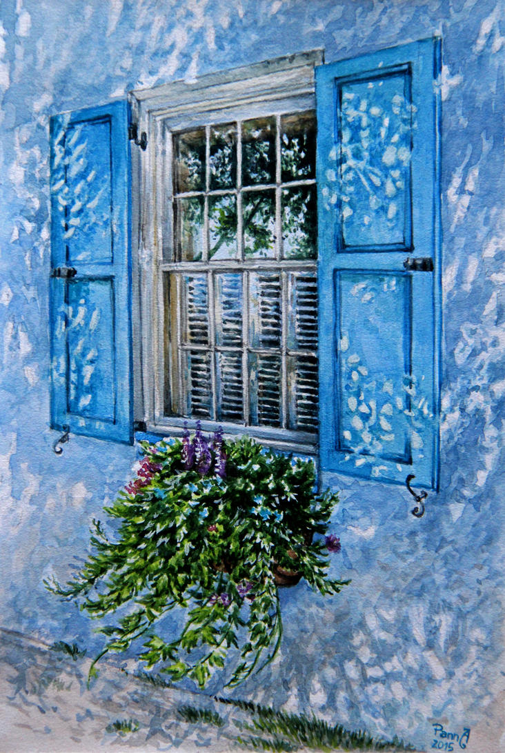 blue shutters by vasoiko
