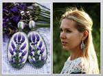 Earrings Lavender by vasoiko