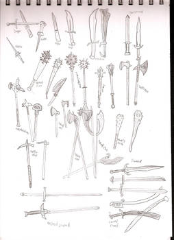 DF weapon sketches 1