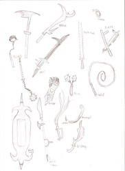 DF weapon sketches 4 by dragonsdale