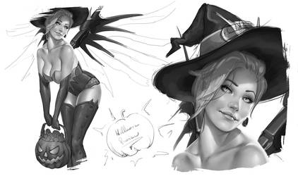 Halloween Pin-up Preview
