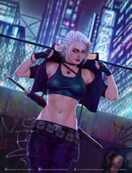Cyberpunk Ciri by krysdecker