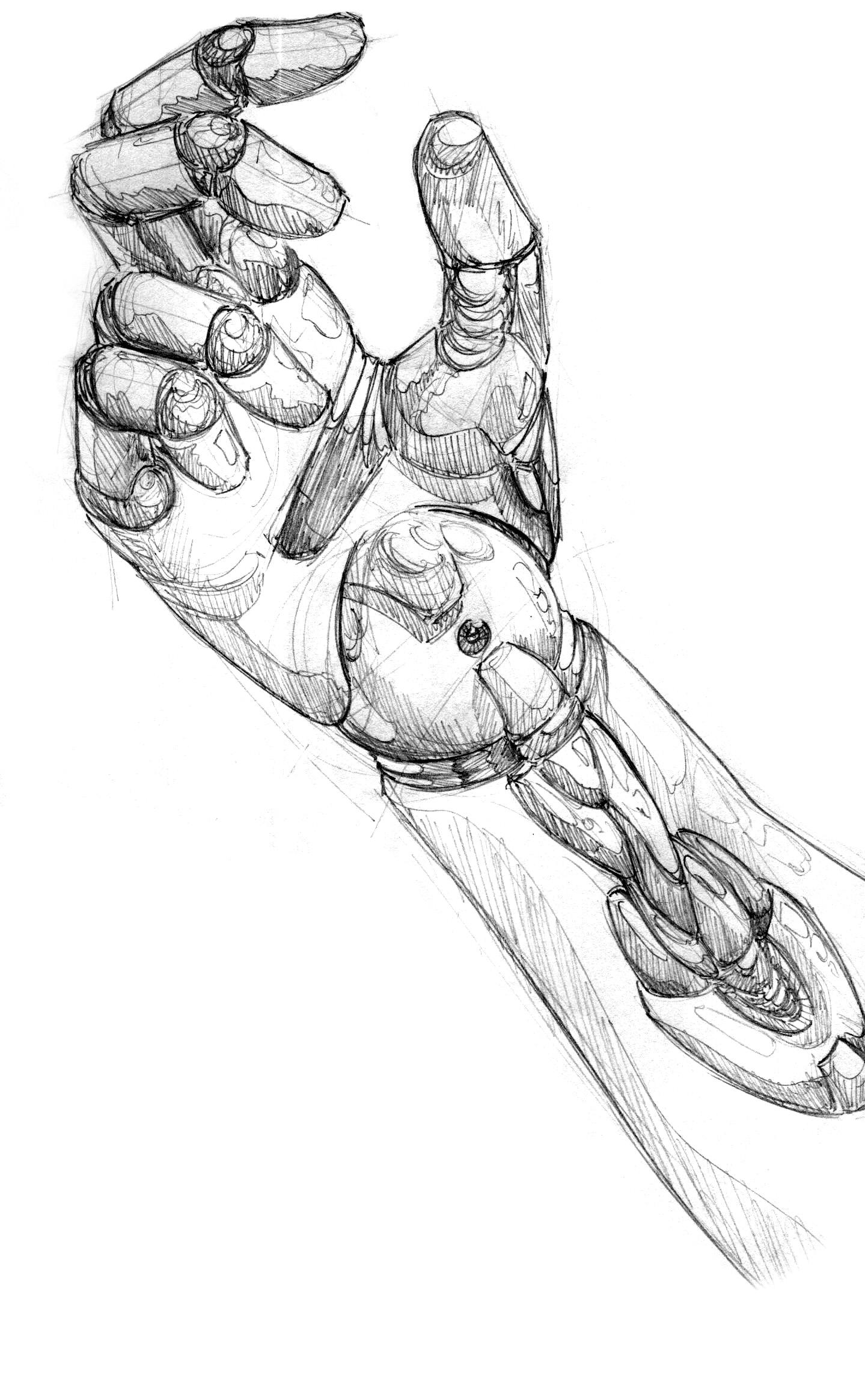 Line Art Robot : A robot hand by krysdecker on deviantart