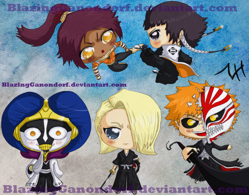 Bleach Chibis - Shinigami Set2 by BlazingGanondorf