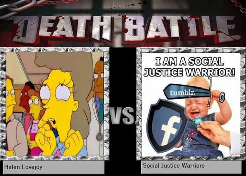 Joke battle-Helen Lovejoy vs. SJWs by LightArcIndumati