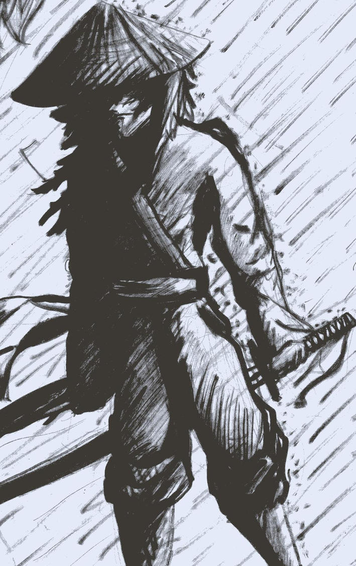 ronin in the rain by twlightofdestruction