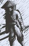 ronin in the rain