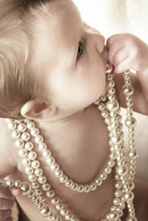baby and pearls by Juliephotography