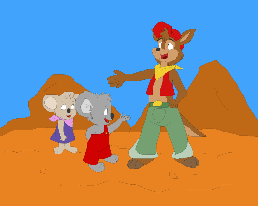 Blinky Bill Meets Skippy The Kangaroo By TomArmstrong20 On