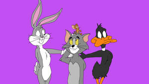 Bugs and Daffy with Tom and Jerry