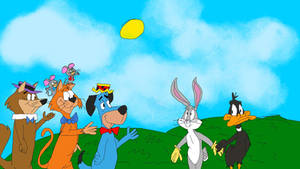 Bugs and Daffy meets Huckleberry Hound
