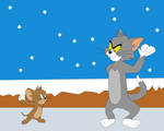Tom and Jerry's snow fight