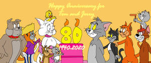 Tom and Jerry 80th anniversary