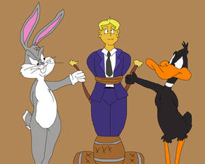 Bugs and Daffy destroys Donald Trump
