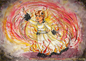 The girl on fire!