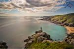 Selfie on Cornwall Coastline